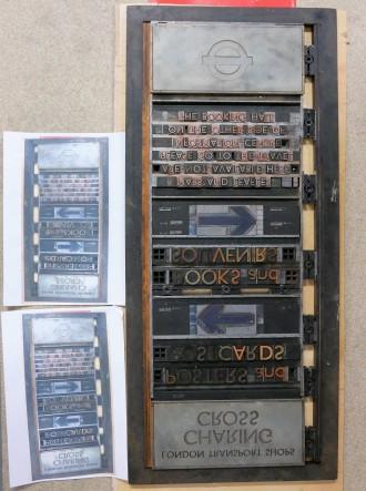 Printing blocks.
