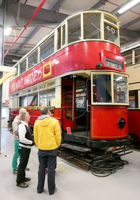 This is an E/1 type tram dating from 1910. It was in use in London until 1952.