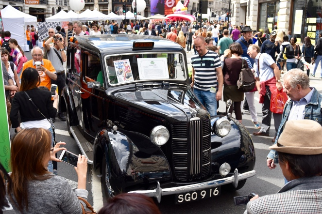 An old Black Cab - as is probably obvious.