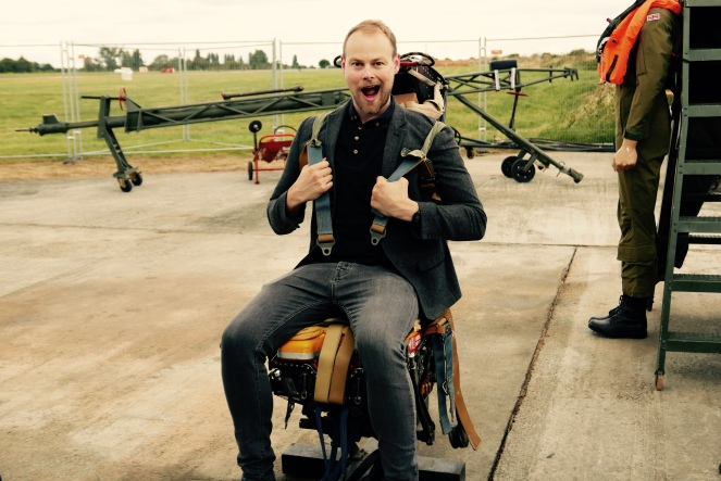 And me on an ejector seat.