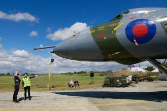 Matt Parson, one of the Trust volunteers, proudly guides visitors around the aircraft.