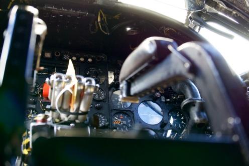 The pilot's controls.