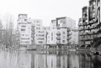 More quirky Millennium Village flats.