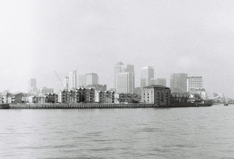 The Isle of Dogs as seen from Greenwich.