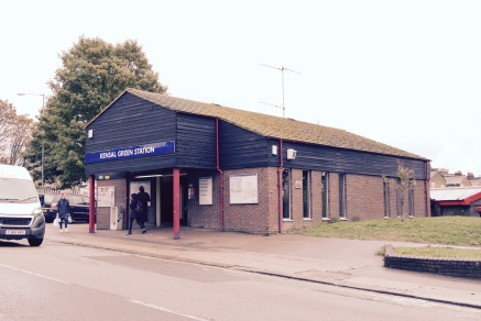 Kensal Green station - this building opened in 1980, replacing the original ticket office which was situated just south of this one on the corner of Harrow Road and College Road.